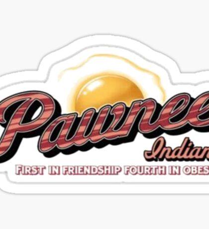 Pawnee, 1st in Friendship, 4th in Obesity Sticker