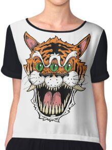 3 Eyed Tiger Chiffon Top