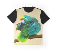 I see you. Sly Parrot Photo Graphic T-Shirt