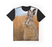 Hare in Grasslands Graphic T-Shirt