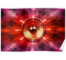 Music speaker and party lights Poster
