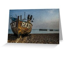 Hastings Fishing Boat On The Stade Greeting Card