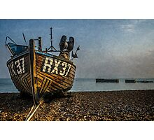 Hastings Fishing Boat On The Stade Photographic Print