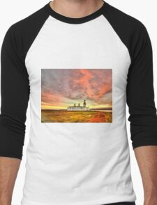 Lighthouse at Chanonry Point, Black Isle, Scotland Men's Baseball ¾ T-Shirt