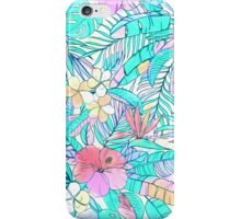 Pretty Pastel Hawaiian Hibiscus Print iPhone Case/Skin