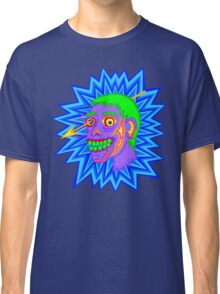 Purple Pop Art Zombie Head Funny Cartoon Classic T-Shirt