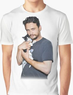 James Franco's Cat Graphic T-Shirt