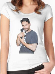 James Franco's Cat Women's Fitted Scoop T-Shirt