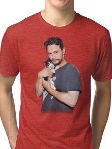 James Franco's Cat Tri-blend T-Shirt
