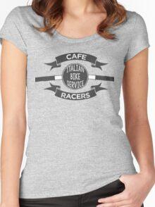 Italian Bike Service Cafe Racers Women's Fitted Scoop T-Shirt
