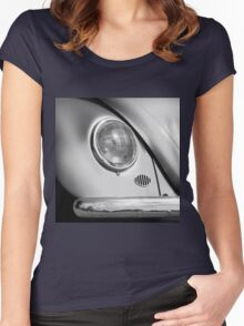 Monochromatic ~ Black & White VW Beetle image Women's Fitted Scoop T-Shirt