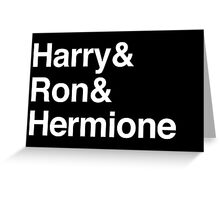 Harry Potter - Harry Ron Hermione Greeting Card