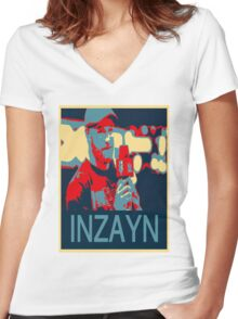 INZAYN Women's Fitted V-Neck T-Shirt