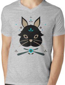 Black Bunny Mens V-Neck T-Shirt