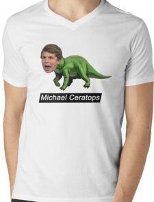 Michael Ceratops Mens V-Neck T-Shirt