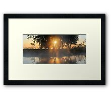 Hazy River Panorama Framed Print