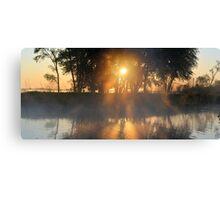 Hazy River Panorama Canvas Print