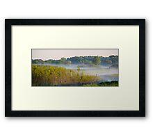 Smokey Marshland Framed Print