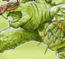 Fighting Turtle Sticker