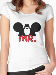 Character inspired Mr. Women's Fitted Scoop T-Shirt