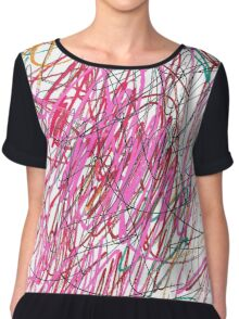 Pink Scribble (Gym) Chiffon Top
