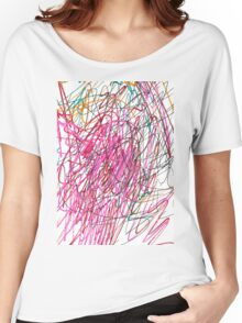Pink Scribble (Gym) Women's Relaxed Fit T-Shirt
