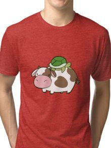 Cow and Turtle Tri-blend T-Shirt