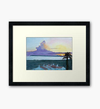 Sunset, Alvor, Algarve by John Rees Framed Print