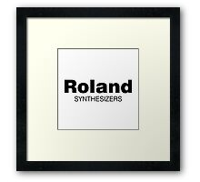 Roland Synthesizer (Black) Framed Print