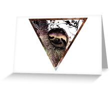 Galactic Sloth Greeting Card