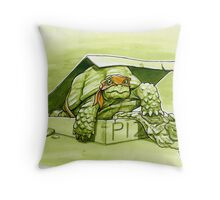 Party Turtle Throw Pillow