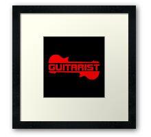 Guitarist ( Red) Framed Print