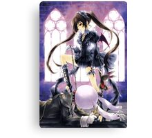 Tsundere sado girl with twin tails  Canvas Print