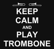 Play Trombone (White) One Piece - Short Sleeve