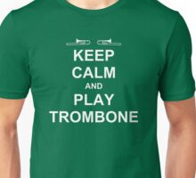 Play Trombone (White) Unisex T-Shirt