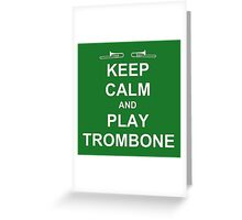 Play Trombone (White) Greeting Card