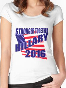 STRONGER TOGETHER HILLARY Women's Fitted Scoop T-Shirt