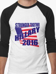 STRONGER TOGETHER HILLARY Men's Baseball ¾ T-Shirt