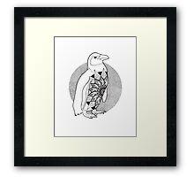 Mandala Penguin Framed Print