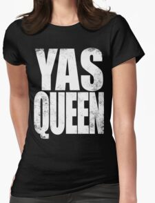 YAS QUEEN (WHITE) Womens Fitted T-Shirt