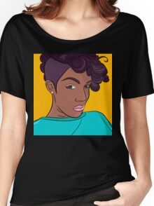 Mulatto girl vector print Women's Relaxed Fit T-Shirt