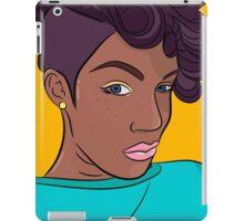 Mulatto girl vector print iPad Case/Skin