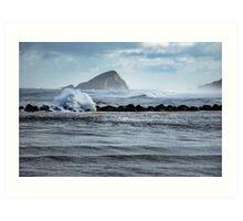 Big ocean waves and spray Art Print