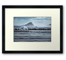 Big ocean waves and spray Framed Print