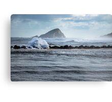 Big ocean waves and spray Metal Print