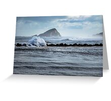 Big ocean waves and spray Greeting Card