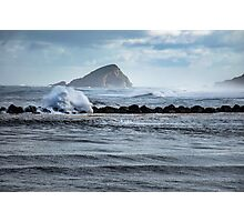 Big ocean waves and spray Photographic Print