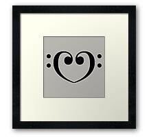 Love Bass Framed Print