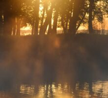Hazy River Sunrise Sticker