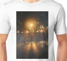 Hazy River Sunrise Unisex T-Shirt
